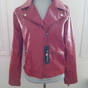 Zara Red Leather Jacket